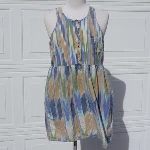 Obey Propanganda Blue Aztec Print Pocket Dress M
